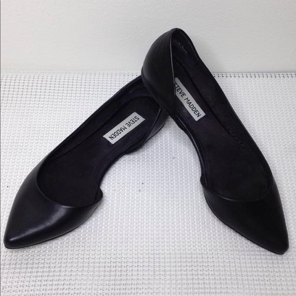 Black Pointy Toe Flats Ballet Shoe